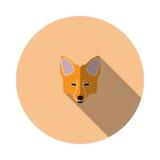 Zorro del bozal de la imagen del vector Imagenes de archivo