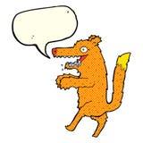 zorro hambriento de la historieta con la burbuja del discurso libre illustration