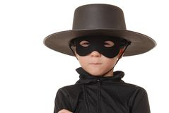Zorro Of The Old West 18. Young boy dressed in Zorro halloween costume Royalty Free Stock Images