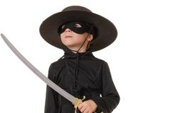 Zorro Of The Old West 21. Young boy dressed in Zorro halloween costume Stock Images