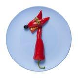 Zorro vegetal en la placa azul Imagen de archivo