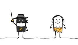 Zorro y Tarzan Imagenes de archivo