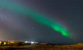 Zorz borealis, północni światła w Iceland Obraz Stock
