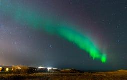 Zorz borealis, północni światła w Iceland Zdjęcia Stock