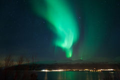 Zorz borealis, Tromso, Norwegia Zdjęcie Royalty Free