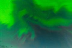 Zorz borealis zawijasów tła nightsky wzór Obraz Royalty Free