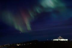 Zorza Borealis, Reykjavik, Iceland - obrazy stock
