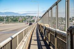 Zorza Bridżowy Seattle Waszyngton Zdjęcia Royalty Free