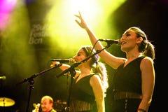 Zorza i Betrayers występ przy Barts sceną (zespół) Obrazy Royalty Free