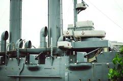 Zorza w St Petersburg Zakończenie Czerep statek obrazy royalty free