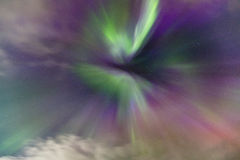 Zorzy Borealis korona słoneczna Fotografia Stock