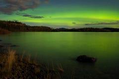 zorzy borealis pokaz zaświeca północnego Obrazy Royalty Free