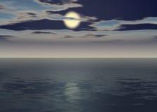 Zorzy morze - Zmierzch nad horyzont ilustracja wektor