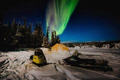 Zorzy Snowmobile fotografia stock