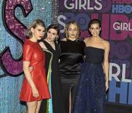 Zosia Mamet, Lena Dunham, Jemima Kirke e Allison Williams Fotografie Stock Libere da Diritti