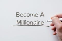 Zostać milioner pisać na whiteboard obrazy royalty free