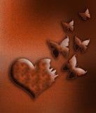 zostać motyli serce Fotografia Royalty Free