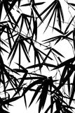 zostaw sylwetki bambus tło ilustracji