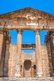 Zostawać rzymski miasto Dougga z Capitol, Tunezja zdjęcie royalty free