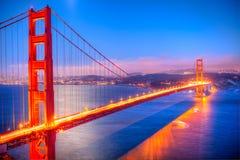 złota bridżowa brama Zdjęcia Royalty Free