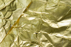 Złota folia textured i tło Fotografia Stock