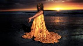 złota na godzinę Fotografia Stock