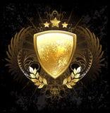złota tarcza Fotografia Stock