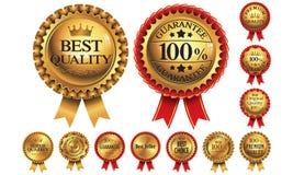 Złote odznaki Obrazy Stock