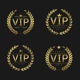 Złote VIP odznaki Zdjęcia Royalty Free