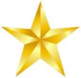 Złoto gwiazda Obraz Royalty Free