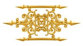 Złoty aliażu wzór Obraz Royalty Free