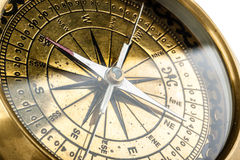 złoty kompas Obraz Stock