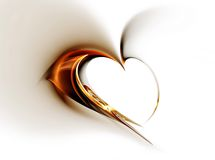 złoty serce Fotografia Royalty Free