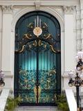 złoty tajski drzwi Obrazy Stock