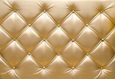 Złoty tapicerowanie Fotografia Stock