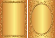 Złoty tło Fotografia Royalty Free