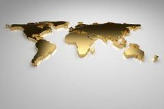 Złoty świat Zdjęcia Royalty Free