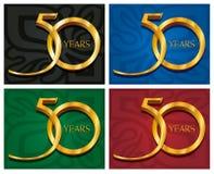 50 złotych jubileuszowych rok Zdjęcie Royalty Free