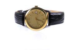 złotych zegarków nadgarstek Obraz Stock