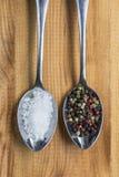 Zout en peper stock foto
