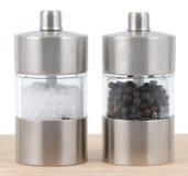 zout en van de Peper schudbeker Royalty-vrije Stock Afbeelding