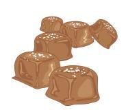 Zout karamelsuikergoed vector illustratie