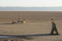 Zout meer in de Sahara tunesië stock fotografie