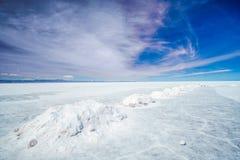 Zout meer Uyuni in Bolivië royalty-vrije stock fotografie