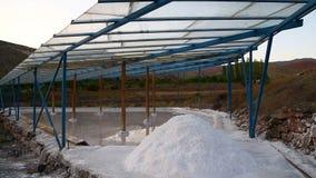 Zout meer, wateraard Organische Zoute Mijnbouw stock video