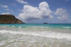 Zout strand, St Baronets, de Franse Antillen Stock Afbeeldingen