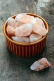 Zout van het Himalayan het roze kristal Royalty-vrije Stock Foto