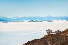 Zout vlak Salar de Uyuni, Altiplano, Bolivië Royalty-vrije Stock Foto