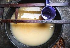 Zout water die na voorbereiding van vissen blijven Royalty-vrije Stock Fotografie