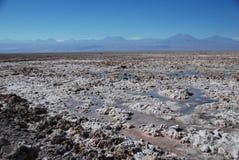 Zout in woestijn Atacama Royalty-vrije Stock Foto